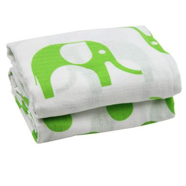 Muslin Blanket: Elephant Green