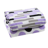 Muslin Blanket: Purple Gray & Black