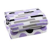 Muslin Blanket: Purple Gray & Black