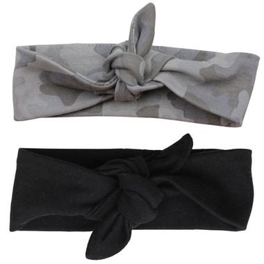 Gray Camo & Black Head Wrap Gift Set