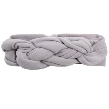 Gray Braided Headband
