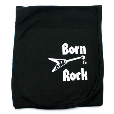 Born To Rock Guitar Receiving Swaddling Baby Blanket