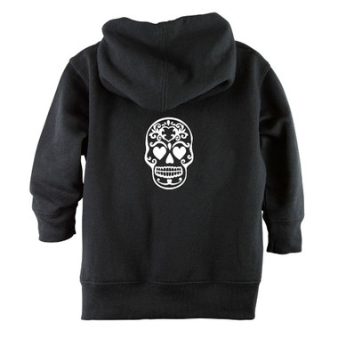 Punk Rock Sugar Skull Baby & Toddler Hoodie Jacket - Back