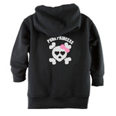 Punk Princess Skull with Bow Baby & Toddler Hoodie Jacket - Back