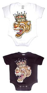 Baby Cool Onesie: Crowned Tiger