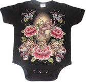 Punk Rock Baby Onesie or Toddler T-Shirt: Leopards  & Roses