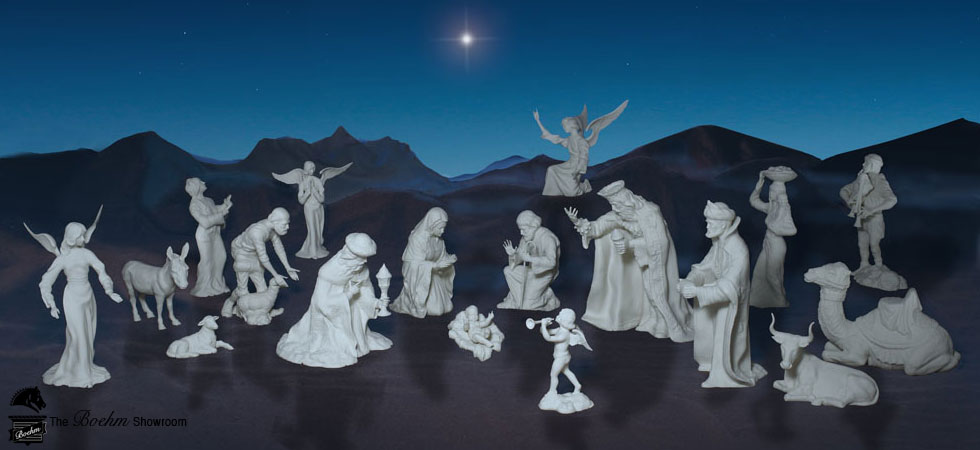 Boehm Nativity Scene Porcelain