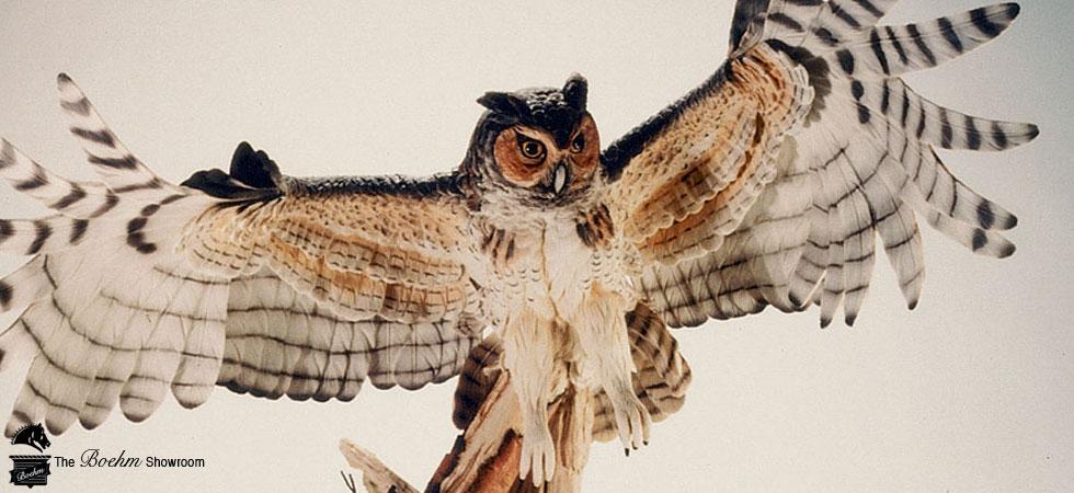 Boehm Bird Owl Porcelain