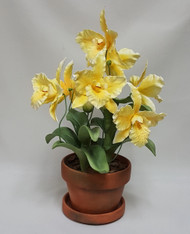 "Boehm ""Dancing Yellow Cattleyas In Pot"" F537YC"