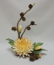 "Connoisseur Of Malvern ""Autumn Melody"" Chrysanthemum With Pinecones"