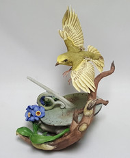 """Boehm """"Yellow Warbler On Sundial"""" 40137"""