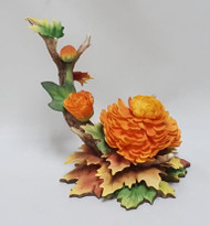 "Boehm ""Chrysanthemum With Autumn Leave F239C"
