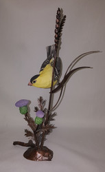 "Boehm ""Goldfinch With Autumn Wheat On Bronze"" (Seasons Songbird) FS2"