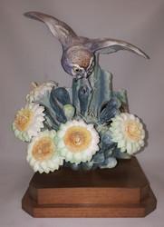 """Dorothy Doughty """"Elf Owl & Saguaro"""""""