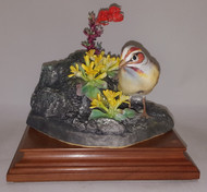 "Dorothy Doughty ""Lark Sparrow & Red Gila Flower"""