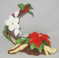"Boehm ""Poinsettia With Christmas Rose"" 300-55"