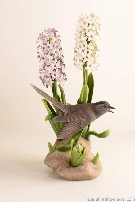 Boehm Catbird With Hyacinth Hallmark 483