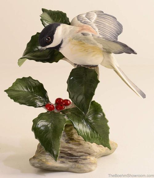 Boehm Chickadee With Holly Hallmark 40427