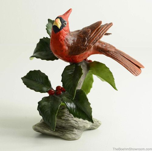 Boehm Cardinal With Berries Hallmark 40600