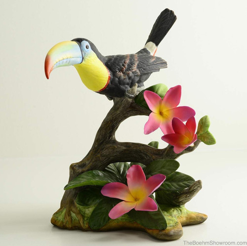 Boehm Toucan With Plumeria Hallmark 40572A