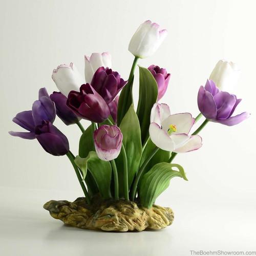Boehm Purple Passion Tulips Hallmark F524