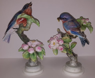 "Dorothy Doughty ""Bluebird With Apple Blossoms"" (Pair)"