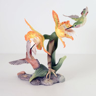"Boehm ""Rufous Hummingbirds With Orchids"" 40440"