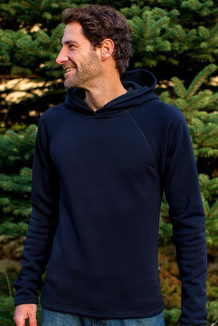 MEN'S HOODIE /  Solid Black (Black thread)