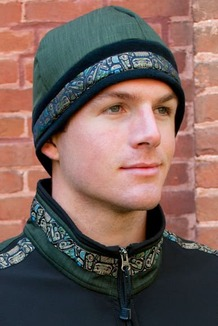 MEN'S ARCTIC HAT / (Hybrid) / Black, Fjord, / Totem-Tan (trim)