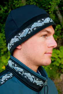 MEN'S ARCTIC HAT / (Hybrid) / Solid Black,  / Salmon-Navy (trim)