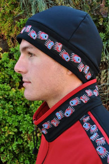 MEN'S ARCTIC HAT / (Hybrid) / Solid Black,  /  Bear Tracks-Red (trim)