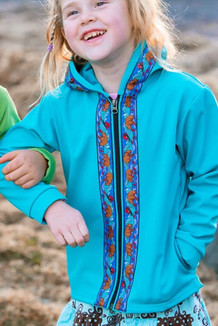 BEACHBERRY JACKET / (Softshell)  / Tide Pool, / Katmai-Teal (trim)