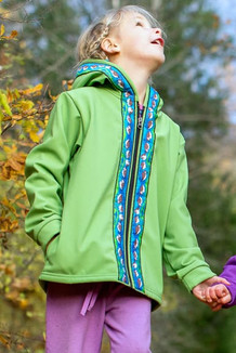 BEACHBERRY JACKET / (Softshell)  / Lime, / Sandpipers-Lime (trim)
