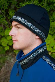 MEN'S ARCTIC HAT / (Hybrid) / Solid Black,  / Native-Navy (trim)