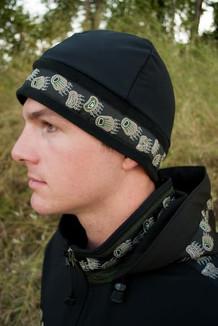 MEN'S ARCTIC HAT / (Hybrid) / Solid Black,  / Bear Tracks-Tan (trim)
