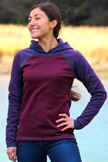 WOMEN'S HOODIE /   Beet, Plum (Emerald Thread)