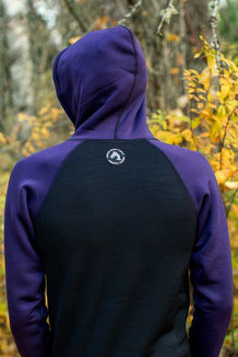 MEN'S HOODIE / (SALE - CLOSEOUT) / Black, Dark Purple