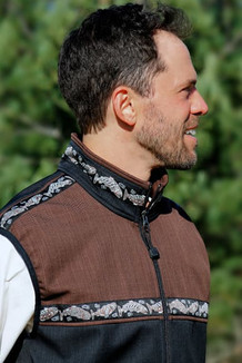 MEN'S KODIAK VEST / (Softshell) /  Raven, Ridge, / Salmon-Copper (trim)