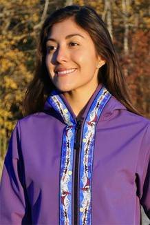 DENALI JACKET / (Softshell)  /  Lupine,  / Race Is On-Purple (trim)