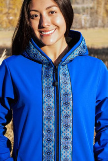 DENALI JACKET / (Softshell)  /  Pacific Blue, / Tres Belle-Blue (trim)