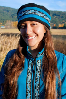 WOMEN'S AURORA HAT / (Softshell) / Ocean, Black,  / Salmon-Sky (trim)