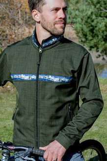 TUNDRA JACKET / (Softshell) / Fjord, / Race Is On-Green (trim)