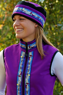WOMEN'S GLACIER VEST / (Softshell) /  Razzleberry, / Race Is On-Purple (trim)