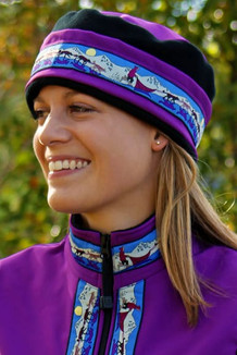 WOMEN'S AURORA HAT / (Softshell) / Razzleberry, Black, / Race Is On-Purple(trim)