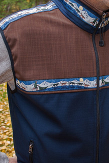 MEN'S KODIAK VEST / (Softshell) / Navy, Ridge, / Race Is On-Green (trim)