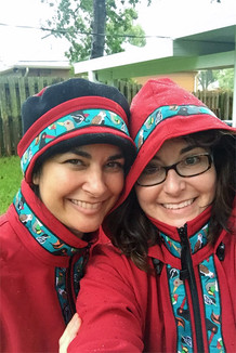 BOREALIS JACKET / - SALE - CLOSEOUT - / (Softshell) / Picasso Red, / Alaska Chatter-Teal (trim)