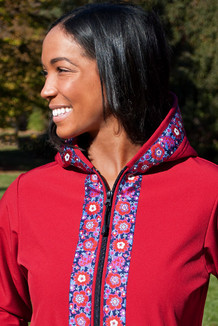 DENALI JACKET / (Softshell)  /   Ruby, / Cordova Bouquet (trim)