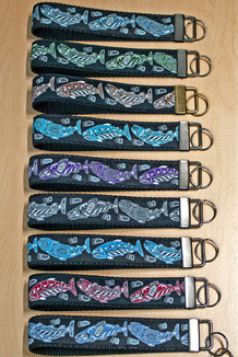 WRIST KEY HOLDER / Salmon trim (11 color options)