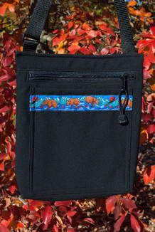 SHOULDER BAG / (Softshell) / Black,  / Katmai-Teal (trim)