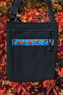 SHOULDER BAG / (Softshell) / Black,  / Katmai-Teal (trim)